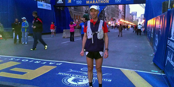 Uli Steidl at the 2012 Boston Marathon