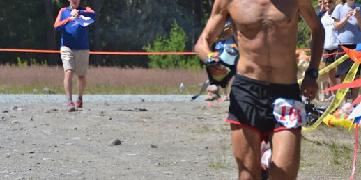 Sage Canaday finishing the 2012 White River 50.